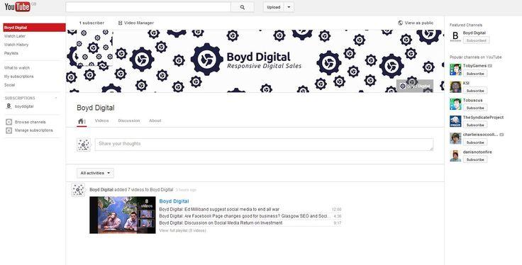 Boyd Digital YouTube Channel