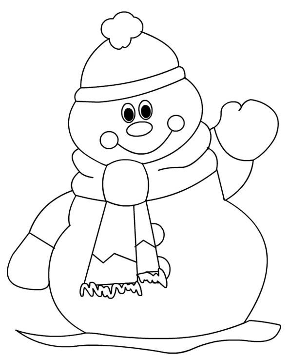 simple snowman coloring pages Printable Christmas Coloring Pages - fresh hello kitty xmas coloring pages