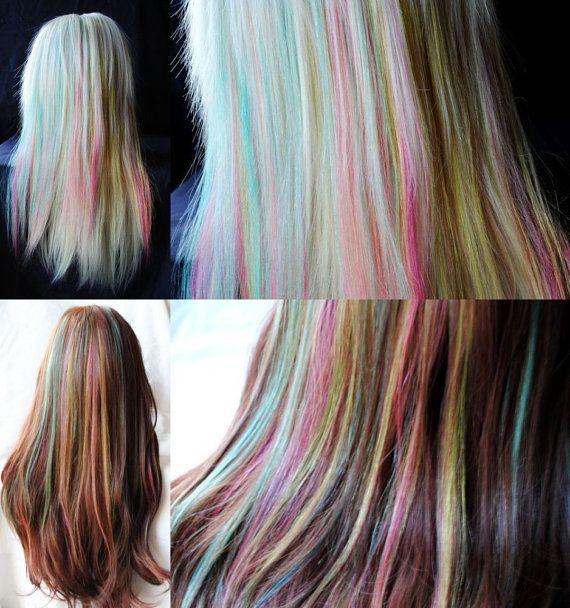 Fishtail Braid estensioni arcobaleno / Set di di MissVioletLace