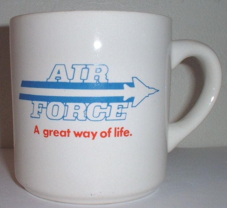"""USAF US Air Force """"A Great Way of Life"""" recruiter's coffee mug by Nagmashdriver on Etsy"""