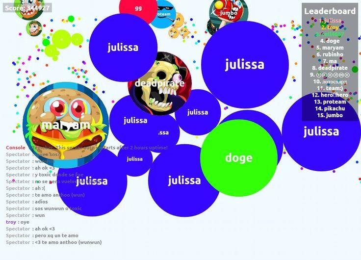 julissa biggest cell ever agar.io 344927 mass - Player: julissa / Score: 344927