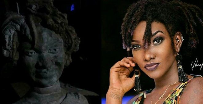 Who Did This To Ebony Regins -Horrible Looking Statue Of Late Ghanaian Singer Ebony Reigns Surfaces (Pic)