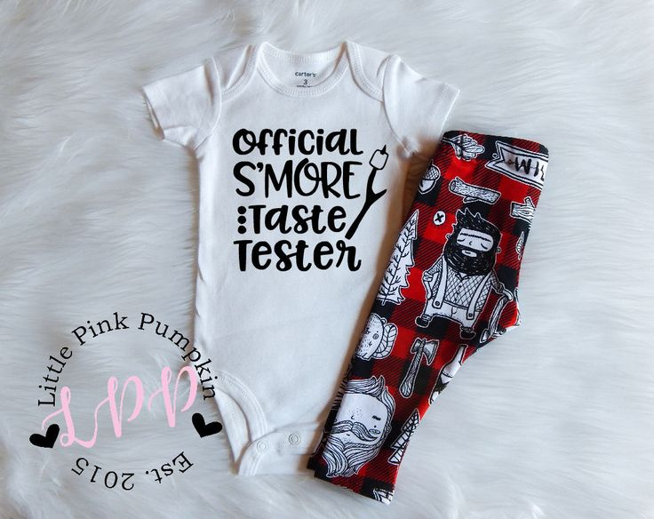 Baby Boy Clothes, Official Smore Taste Tester, Wilderness, Lumberjack Outfit, Hipster Baby Boy Clothes, Baby Shower Gift, Newborn Gift by LittlePinkPumpkin on Etsy