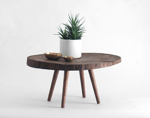 Reclaimed oak tree trunk table by hindsvik on etsy - Tree trunk table and chairs ...