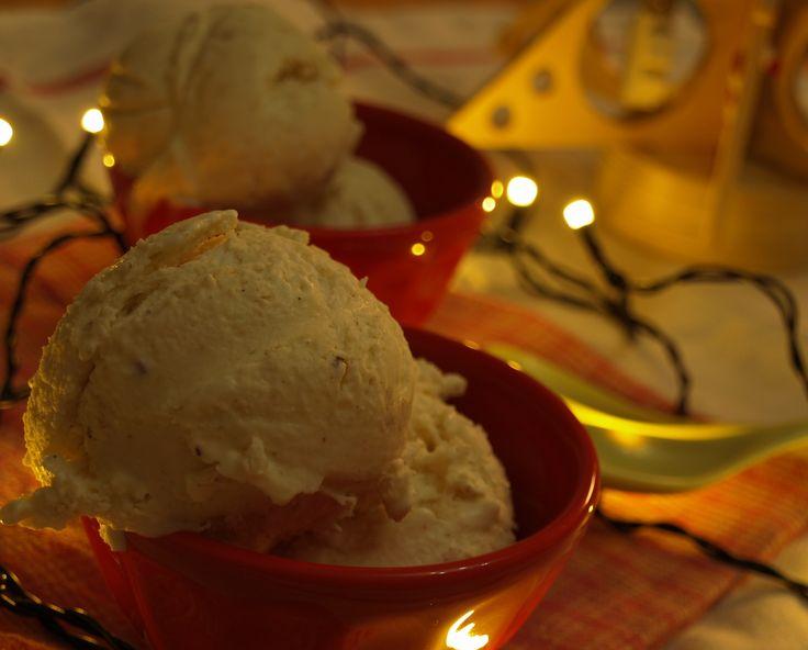 No-churn eggnog ice cream