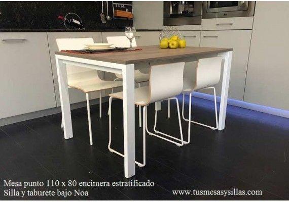 Precio comprar online mesa punto extensible ondarreta 110x70, estratificado, cristal ceramica compacto montaje gratuito