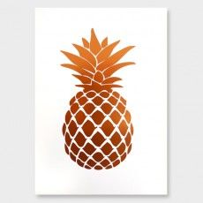 Pineapple Copper Foil Art Print by Cloud 9 Creative See here: http://www.endemicworld.com/metallic-prints.html