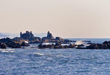 Rocks on the Seashore in Arambol Goa