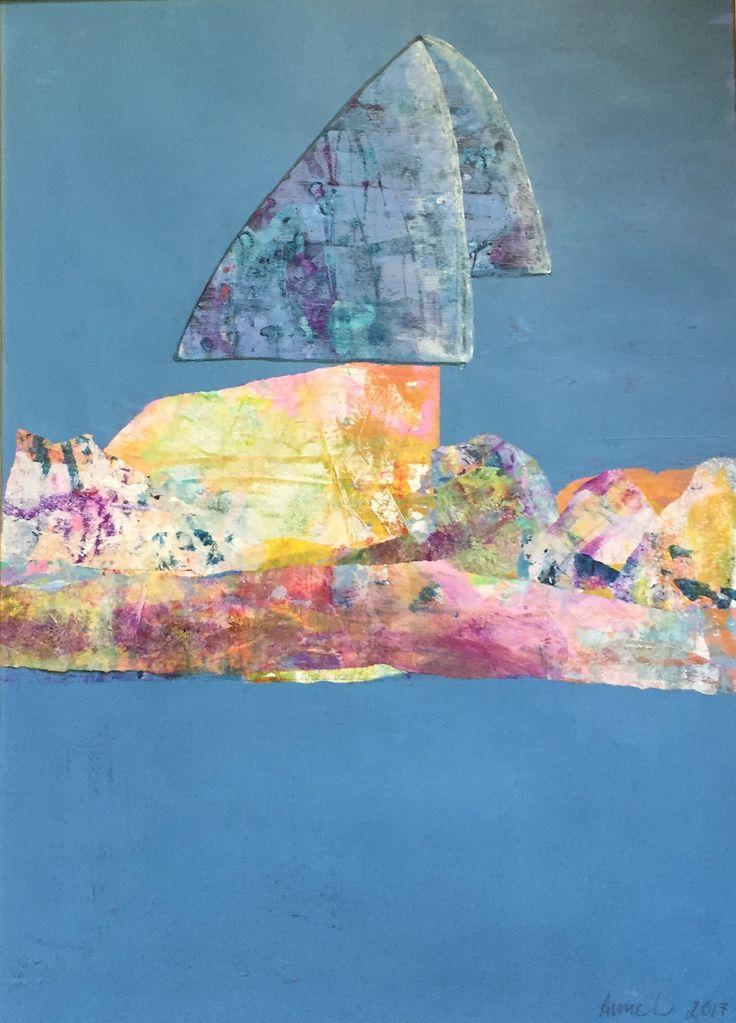 Akryl collage 40x70 cm