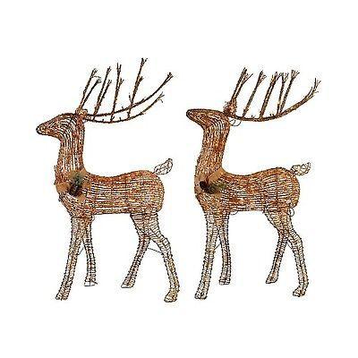 Best 25 outdoor reindeer lights ideas on pinterest outdoor christmas grapevine deer outdoor lighted decoration set 2 mozeypictures Images
