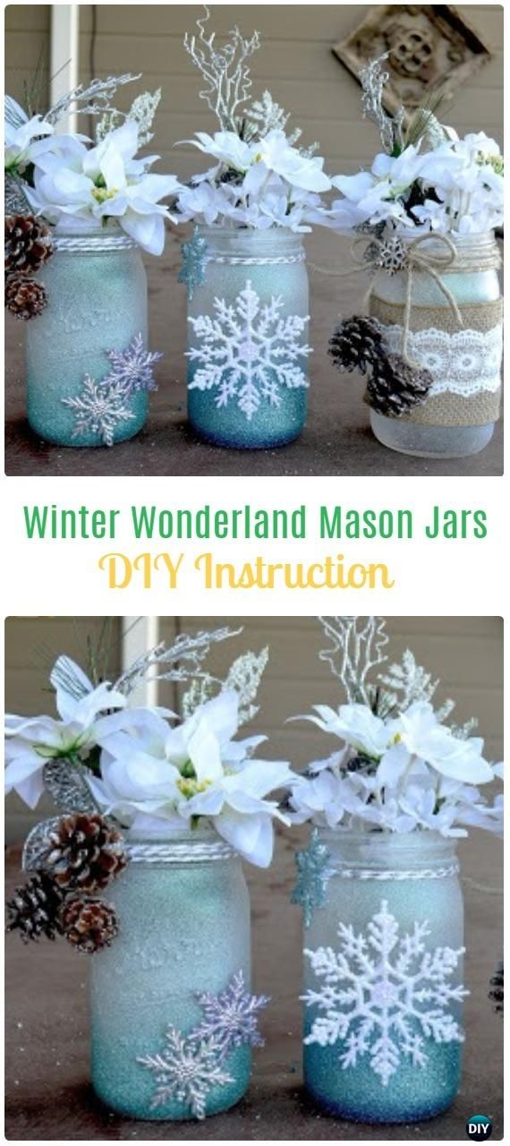 winter crafts ideas best 25 frosted jars ideas on diy 3237