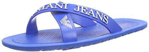 Armani Jeans Shoes & Bags DE 0659769, Herren Sandalen, Blau (BLU - BLUE R8), 45 EU - http://on-line-kaufen.de/armani-jeans/45-eu-armani-jeans-0659769-herren-sandalen-4