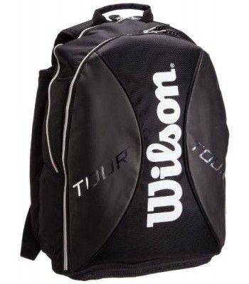 Buy online Latest wilson sporting goods tour tennis backpack, black/silver on Ergode.com