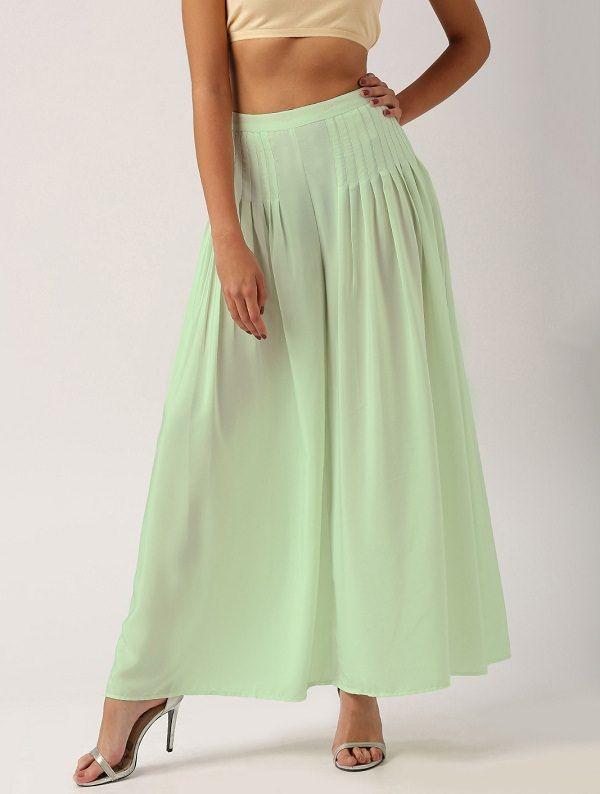 Mint Green Skirt, Trouser Skirt, Stylish Types of Skirts