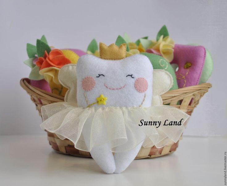 Купить Зубная фея игрушка (зубик) - белый, игрушка, игрушка в подарок, игрушка для детей
