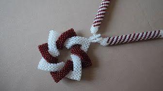 BeadsFriends: Peyote Stitch triangle - How to make post earrings with Peyote Stitch triangles - YouTube