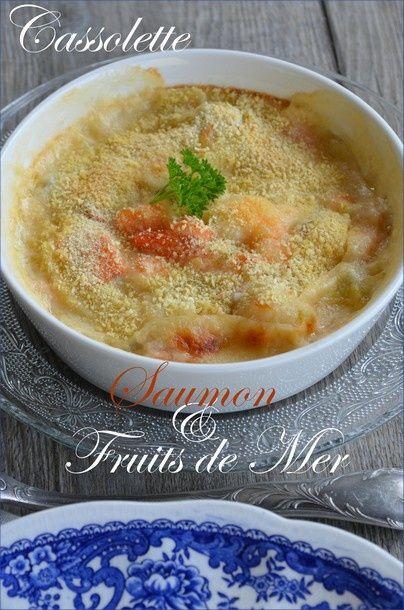 Cassolette saumon et fruits de mer