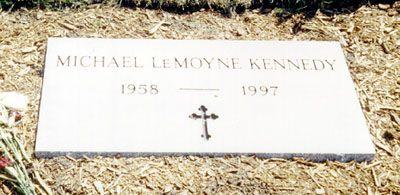 Michael LeMoyne Kennedy (1958 - 1997) gravesite - Holyhood Cemetery, Brookline, Norfolk County Massachusetts.