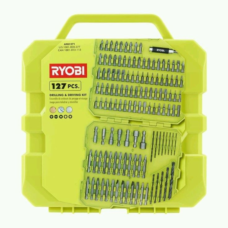 Ryobi Drill and Drive Kit (127-Piece) with Compact Closing Hard Case #Ryobi