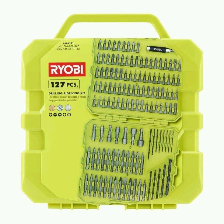 Ryobi Drill and Drive Kit (127-Piece) with Compact Closing Hard Case #Ryobi