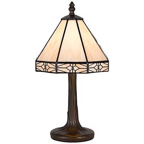 Mission Gallery Antique Brass Tiffany Style Accent Lamp 2c600