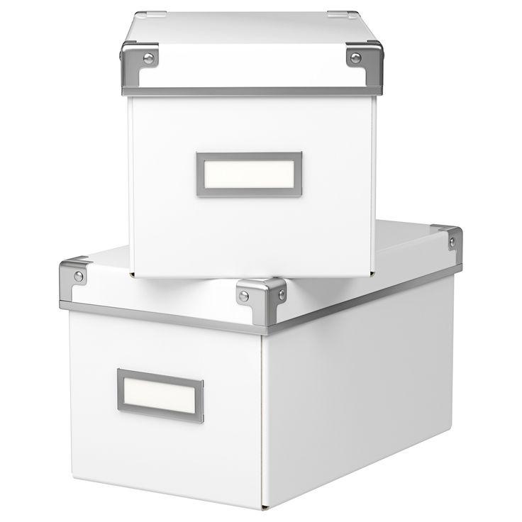 KASSETT Box mit Deckel, weiß