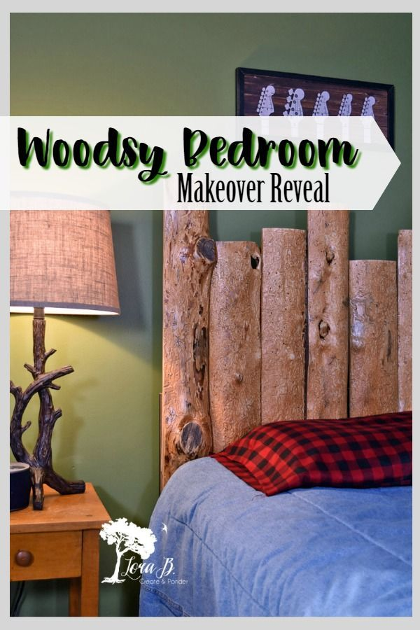 Get decor ideas in this Woodsy Bedroom Makeover reveal Home