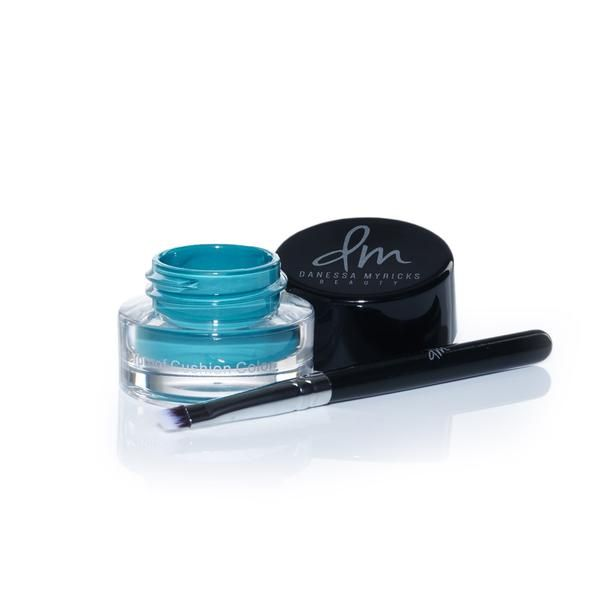 DanessaMyrickscolorfixwaterproof cushion color eyeliner is a dynamic liquid color that enables the artistinyou to create graphic technicolor eyeliner looks or can be used to paint designs on face or body. Small applicator brush included. Waterproof Cushion Color  Waterproof longwearing Immoveable when dry Blendable 100% Cruelty-Free Assortment of colors