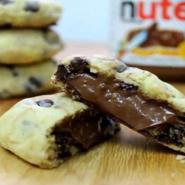 Cookies de Nutella. | 18 receitas com Nutella que vão fazer você ir já para a cozinha