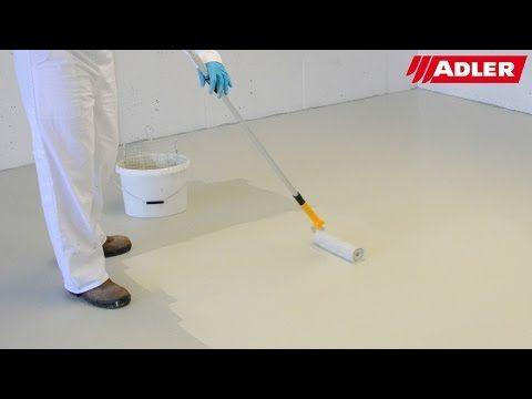 Anleitung: Garagen und Kellerböden beschichten mit Epoxidharz - ADLER - YouTube