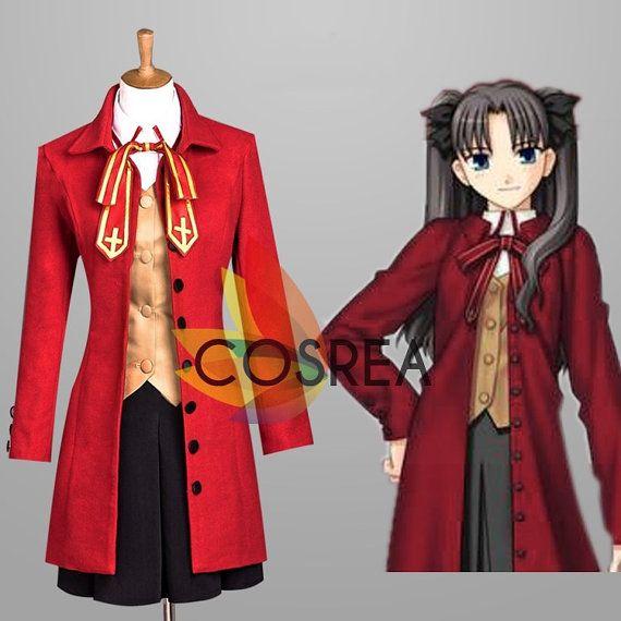 Fate Stay Night Rin Tosaka School Uniform Cosplay by Cosrea