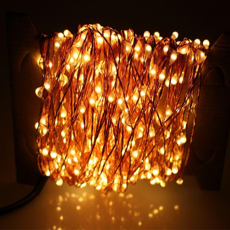 Goedkope 80Ft 24 M Gorgeous Led Lichtslingers 480 LEDs Koperdraad Sterrenhemel Lichtslingers Voor Kerstmis Bruiloften Partijen Decoratie, koop Kwaliteit led slinger op rechtstreeks van Leveranciers van China:       specificaties:      Power: DC 12 V (adapter is inbegrepen).   hoeveelheid LED: 480 stks Hoge Kwaliteit LEDs   draa