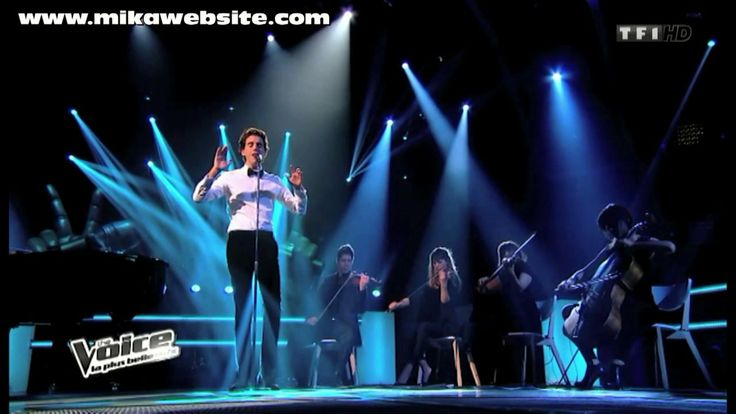 """VIDEO Mika singing """"Underwater"""" (unplugged) on The Voice France, 2014 - really amazing <3"""