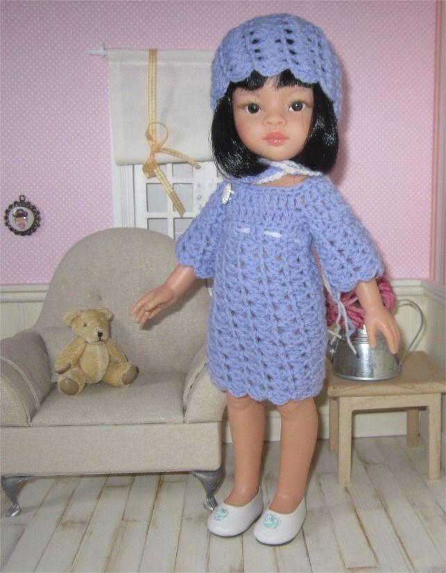 """113- FICHE PATRON CROCHET Ensemble """"Mila"""" pour poupée Paola Reina ou Les Chéries de Corolle : Jeux, jouets par atelier-crochet"""