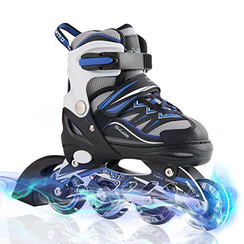 ★INLINE SKATING – A GOOD AND HEALTHY EXERCISE FOR KIDS This activity will help kids to build strong bones, joints and muscles, which helps prevent obesity. Kids who exercise regularly sleep better and have stronger immune systems. Kids today are far less physcially active, they spend so l... more details available at https://perfect-gifts.bestselleroutlets.com/gifts-for-teens/skates-skateboards-scooters/product-review-for-kuxuan-boys-ciro-adjustable-kids-inline-skates
