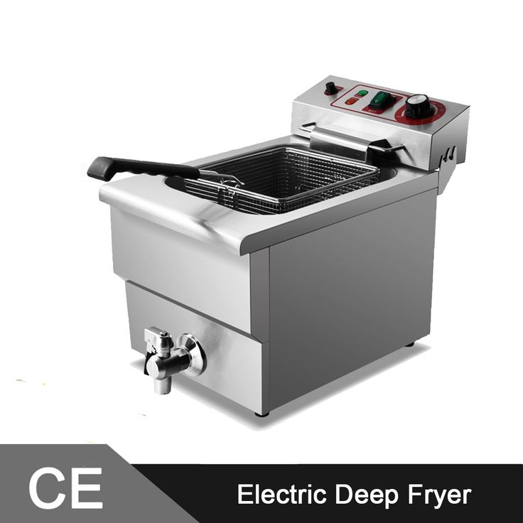 395.00$  Watch now - http://alioul.worldwells.pw/go.php?t=32474903604 - 14L Unique Design Stainless Steel Deep Fat Fryer with Valve Tap and Lid 395.00$