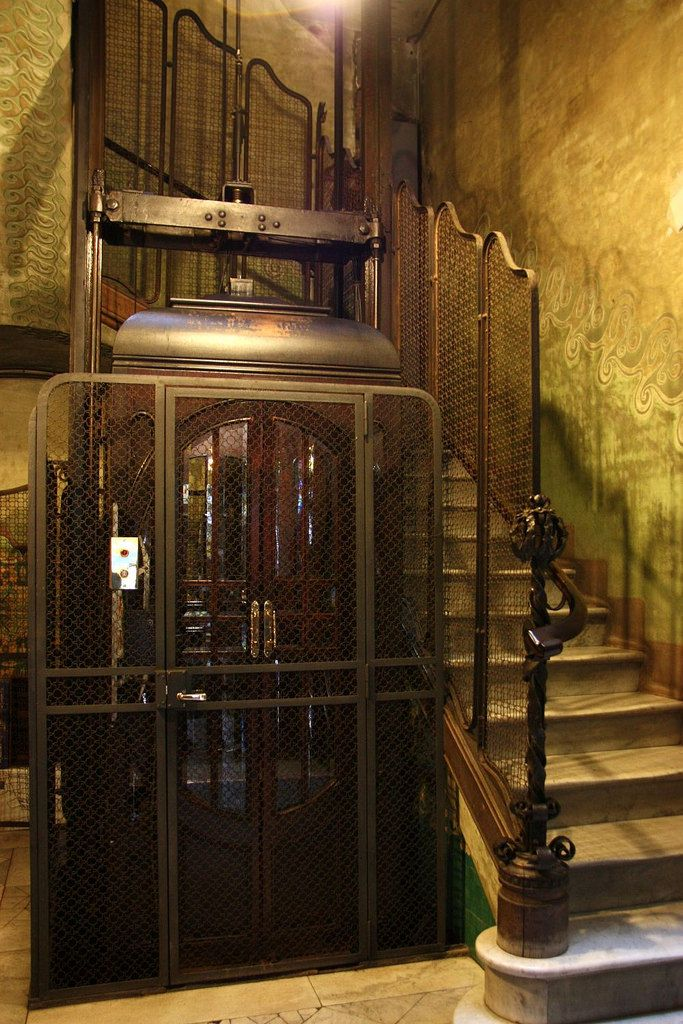 Lift and stairs in Casa Francesc Cama- Art Nouveau in Barcelona | Flickr - Photo Sharing!