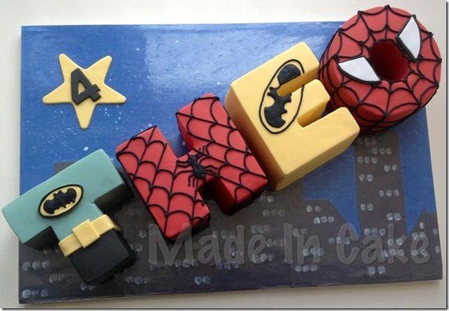 coloring pages batman spiderman cakes - photo#23