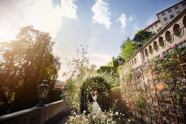 свадьба в праге сады свадебная фотосессия пражский град цветы лето