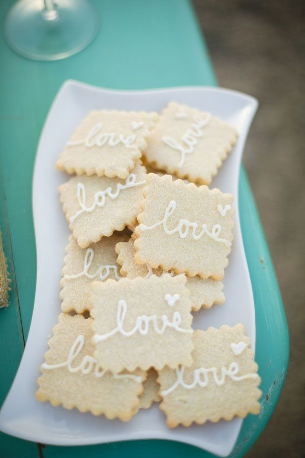 Such a cute idea to serve cookies at a reception