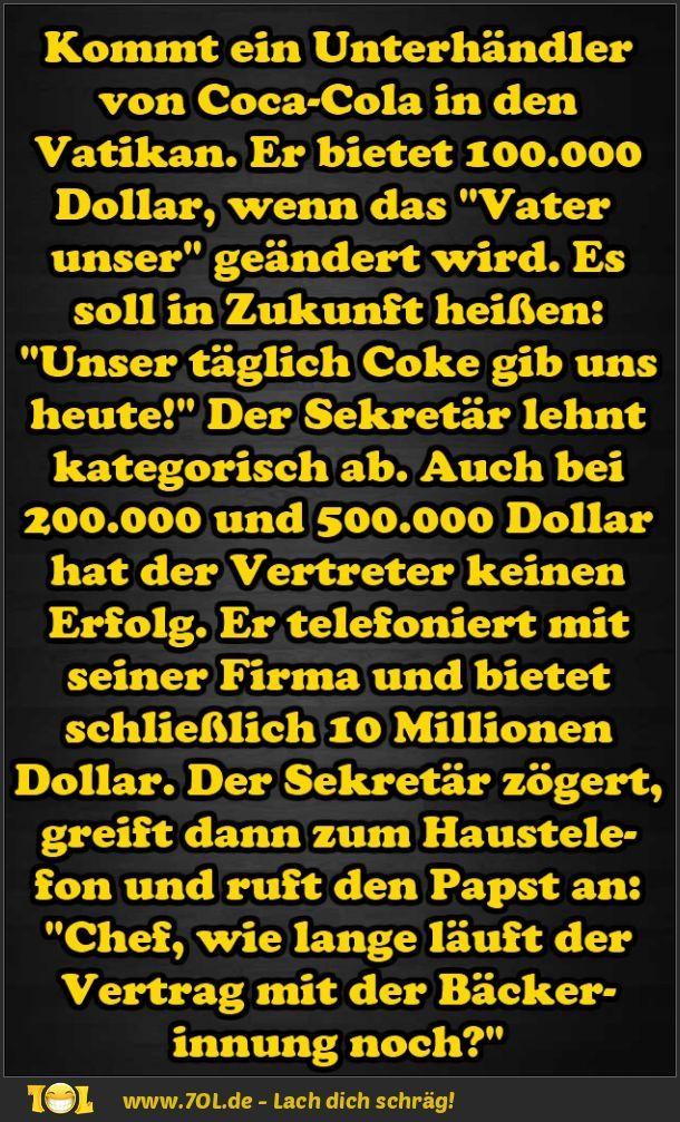 Witz - Coca-Cola und der Papst
