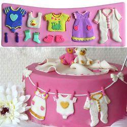 Stampo Baby formina decorazione torta vestiti bambino pasta zucchero Cake Design