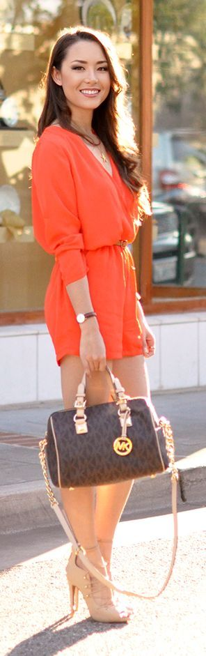 Orange Playsuit by Hapa Time