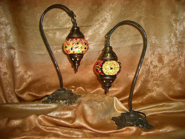 Islamic Art Nouveau, mosaic table lamps, collection, gift, vintage by AntiqueBoutiqueZ on Etsy