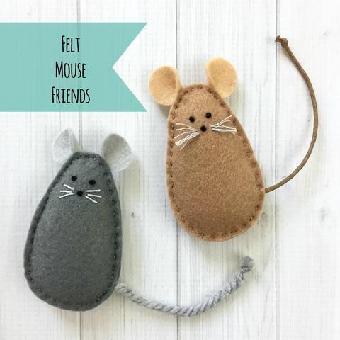 Summer Make-Along: Felt Mouse Friends