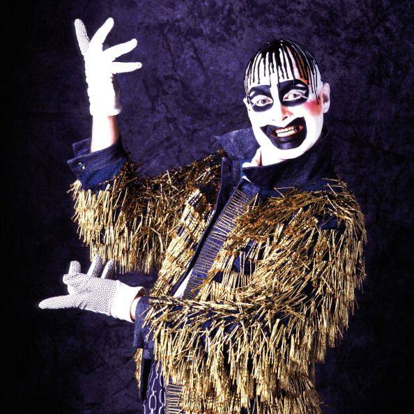 Portrait of Australian performance artist club promoter actor aspiring pop star model and fashion designer Leigh Bowery photographed in the late...