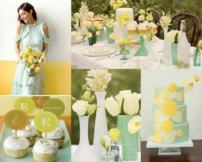 Combinacion verde menta amarillo combinaciones de for Combinacion de colores en decoracion