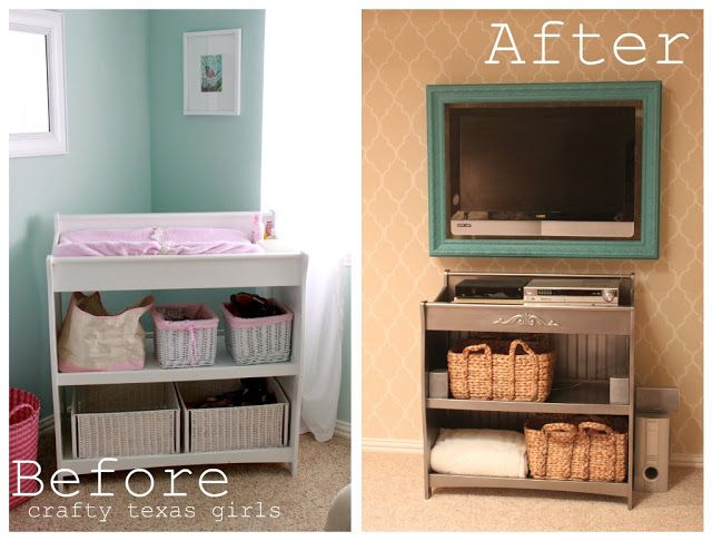 For future changing table repurposed: Remodelaholic | Play Room Updated To A Colorful Family Room