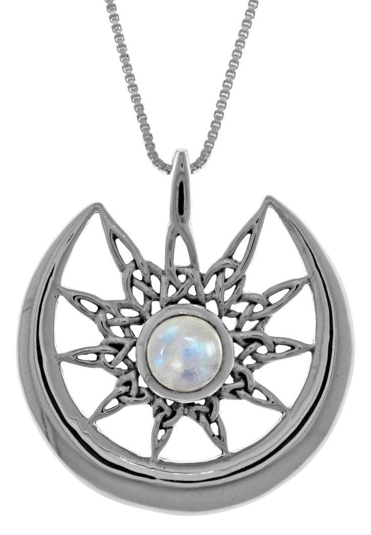 celtic moonstone necklace - 736×1061