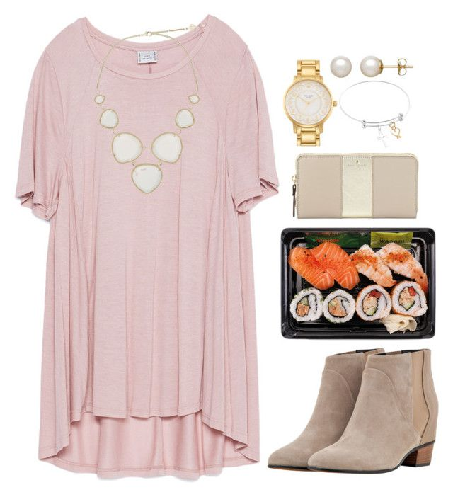 """""""Dinner"""" by valerienwashington on Polyvore featuring Zara, Golden Goose, Kendra Scott, Kate Spade, Honora, women's clothing, women, female, woman and misses"""